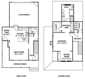 1 bedroom townhouse. The Kennebunkport kennebunkport floorplan 1 Bedroom Townhouse Styles  Deer Valley Townhomes